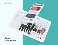 Diamed: dental clinic website