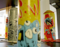 Painted spray cans Serie #02