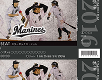 """Marines"" Tickets Designs"