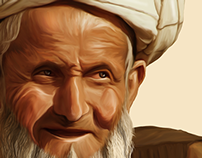 Portrait Illustration of Old Man