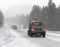 Snow plow in Oregon