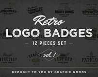 Retro Logo Badges vol. 1