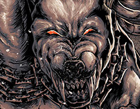 Death Metal Band Tees Artwork - Hellhound