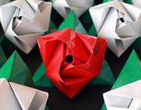 Rosa, Rosae_origami bouquet