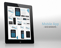 Mobile App Promotion Web Banner Set