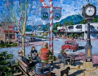 URBAN SCAPES ACRYLIC PAINTINGS