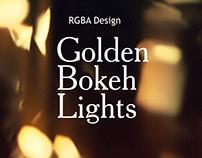 Bokeh Lights Golden Backgrounds