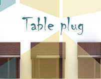 Table plug | mesa com 6 cadeiras