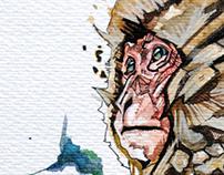 MONKEY II watercolor