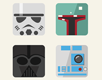 Flat Star Wars Icons