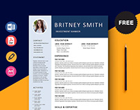 FREE Clean Resume Template for Any Job Opportunity