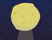 Ilustración para EP Moonburn.