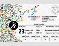 Istanbul 2020 Olympic Games Ticket Design