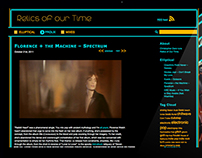 Relics of our time: Music blog web design