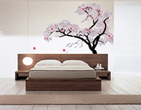 Cherry Blossom Bedroom Animation