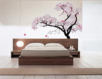 Cherry Blossom Bedroom Animation