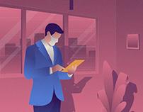 Business Man Illustration 02