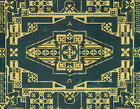 Neo-Byzantine Carpet Wallpaper