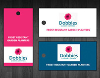Dobbies Swing tag label design