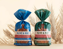 Alive & Rise Organic Bread Packaging Design