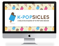 K-Popsicles - A Website for K-Pop and Design