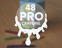 "Artist Series Crayon Box Design ""PRO CRAYONS"""