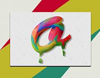 Typography Paint Drop Effect