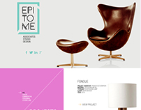 Epitome Homepage Design