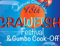 Clear Lake Crawfish Festival Poster