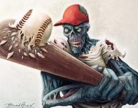 Zombie Baseball Player