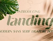Free Font - Landing Sans Serif