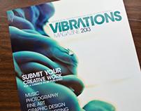 Vibrations Art Magazine - Print & Web Concept