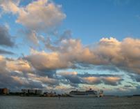 Blue sky Miami