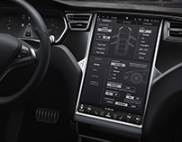 Tesla Model S concept UI & Visual Design