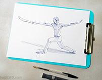 Swordsfighter - 2 styles | Traditional Art
