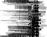 """Typographic poster """"concrete poetry"""""""