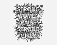 Hillary for America Campaign, Strong Women Lettering