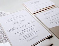 Wedding Invitation: Leah + Will