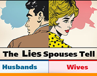 The Lies Spouses Tell infographic