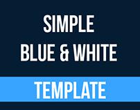 Simple Blue & White | Power Point Presentation