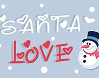 Santa love font