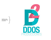 """Logo para productora de eventos """"DDOS PRODUCCIONES"""""""