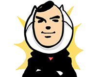 """HANDSOME"" - LINE STICKERS"