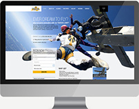 Skydive Website homepage