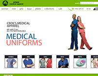 Crocs Medical Apparel Web Design