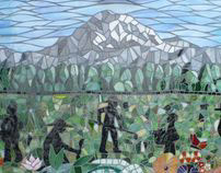 Federal Way Senior Center Mosaic Mural