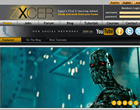 ZXCER online school official web design