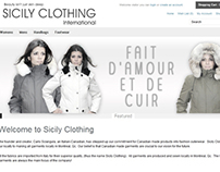 Sicily Clothing Web Design