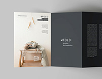 Free 4 Fold Accordion Brochure Mockup