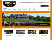R&D Paving Inc. Website